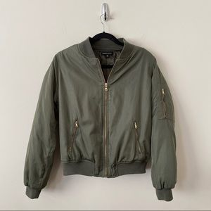 Kendall + Kylie-Army Green Bomber Jacket